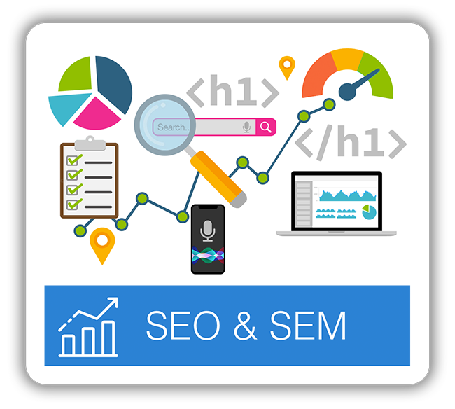Search Engine Optimization (SEO) and SEM, PPC, Digital Marketing Campaigns